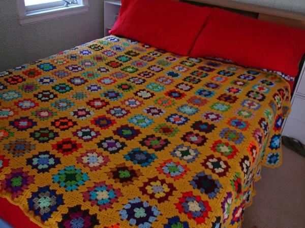 full size granny square blanket