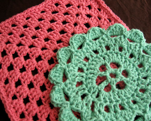 single crochet white blue crocheted trivet shell stitch cotton White and Blue Doily or Trivet double crochet crocheted doily