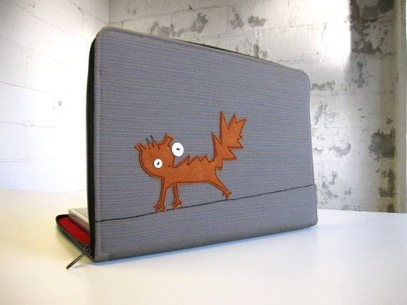 shocked squirrel laptop case