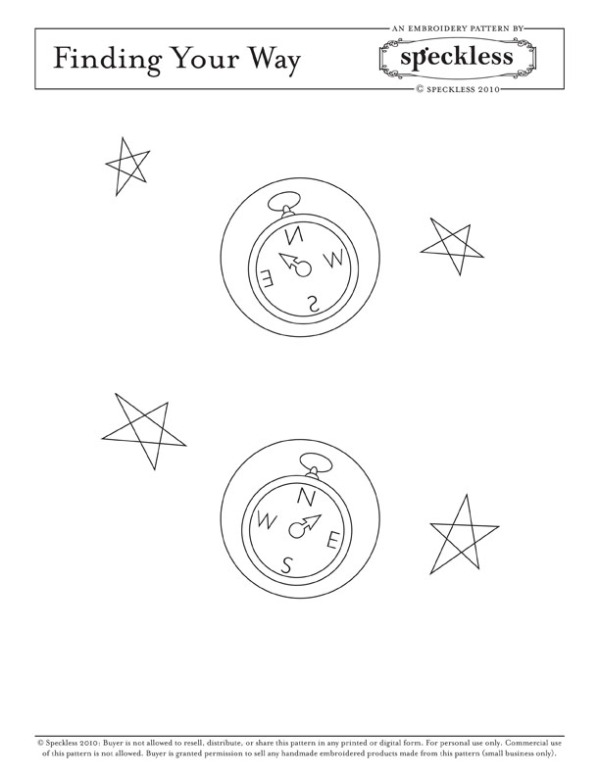 Finding Your Way embroidery pattern