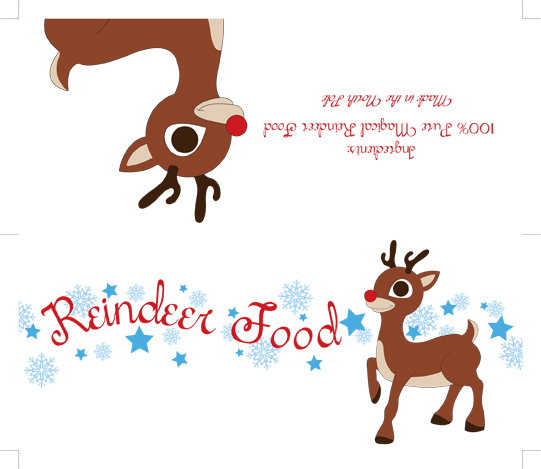 Printable magic reindeer food poems - amihai.com - home printable food ...