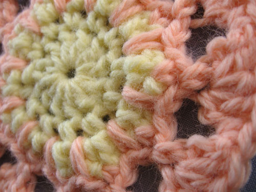 sunrise crochet motif