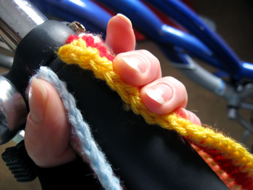 crochet bike streamers step 4