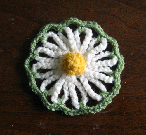 crochet daisy motif