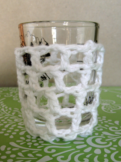 crochet votive holder