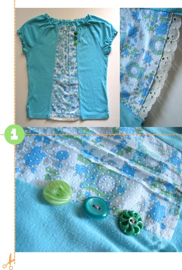 fabric insert shirt