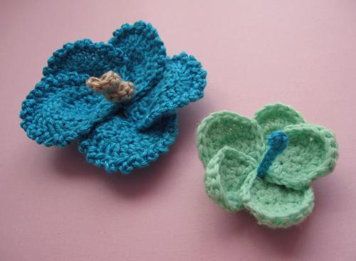 crochet hibiscus flowers