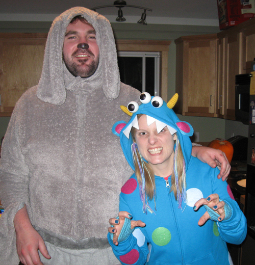 tim as wilfred and heidi as monster