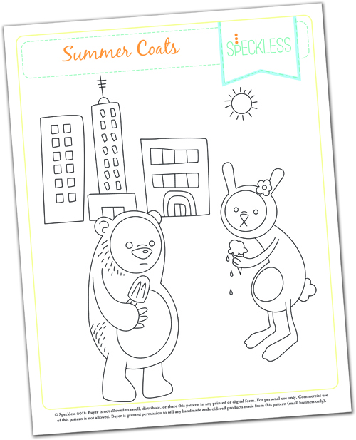 summer coats embroidery pattern