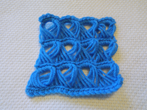 broomstick lace square
