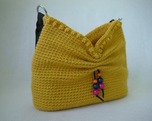 Crochet Purse Patterns Blog : faux bow hobo crochet bag