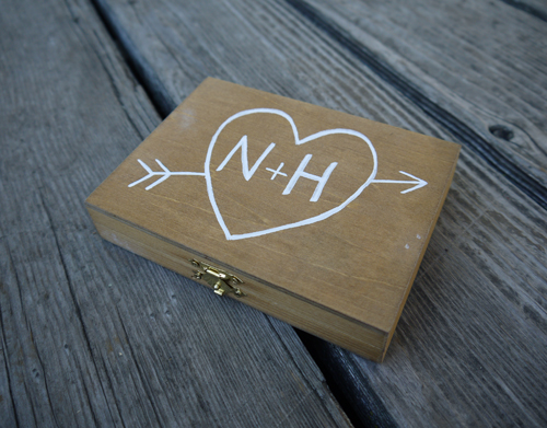wooden ring bearers box