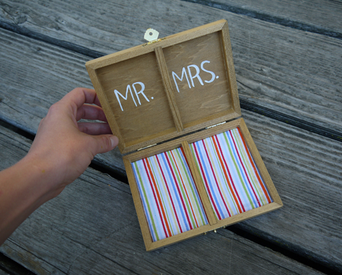 wooden ring bearers box