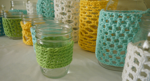 crochet covered jars