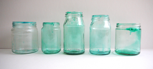 tinted baby food jars