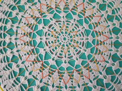Large Embroidered Doily Mandala