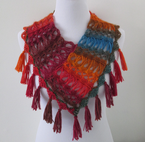 Ember Scarf Broomstick Lace Pattern