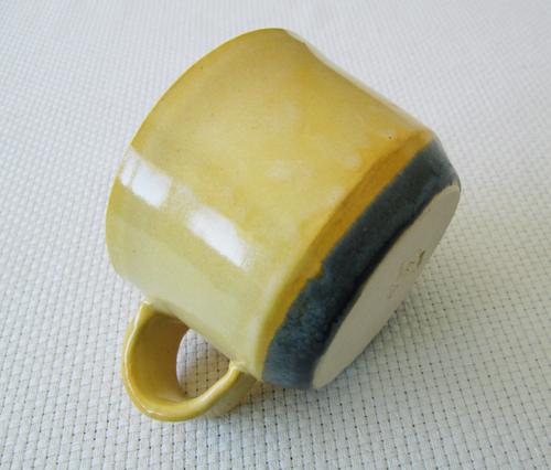 handmade clay mug