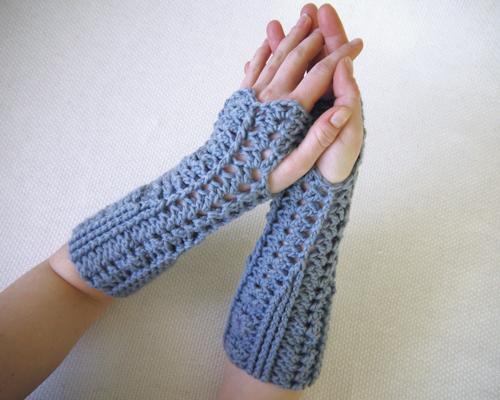 Shelly Crochet Fingerless Gloves